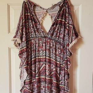 Charlotte Russe Boho Tunic or swimsuit cover up M